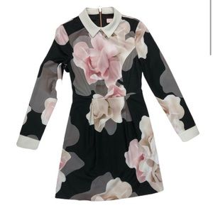 Ted Baker Long Sleeve Floral Dress